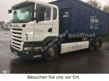 Scania emeletes billenőkocsi teherautó R400 6x2 GERGEN Abrollkipper mit Knickarm