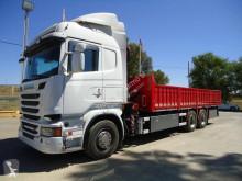 Camião Scania estrado / caixa aberta usado