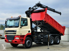 Camião DAF CF 85.340 *Kipper 4,80 + Kran/FUNK*Topzustand! estrado / caixa aberta usado