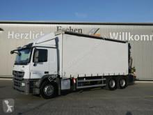 Camião caixa aberta com lona Mercedes Actros 2641L, 6x4, PK 34002SH, FlyJib PJ060,Funk