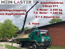 Camión MAN 18.280 V-Kran 7,9m-1.240 kg 5+6 Steuerkreis volquete usado