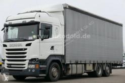 Teherautó Scania R 490 használt ponyvával felszerelt plató