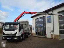 Iveco Eurocargo ML80E22 Kipper + Kran Fassi F65 +Funk truck new three-way side tipper