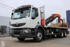 Renault LANDER 370+Plateau 6.6m+Palfinger PK 18500 (4xhydr.)+Remote Control truck used standard flatbed
