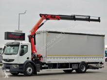 Ciężarówka platforma Renault LANDER 320/CURTAINSIDER+CRANE PALFINGER PK16502/