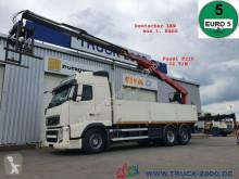 Camion Volvo FH 12-430 Fassi F215 22T/M 1.Hand Deutscher LKW plateau occasion