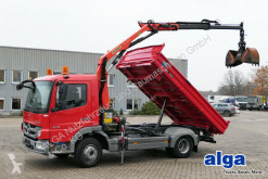 Mercedes three-way side tipper truck 816 K Atego 4x2, Meiller, Kran Palfinger PK7001