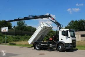 Ciężarówka wywrotka trójstronny wyładunek MAN TGM TGM 18.320 4x2 Euro6d Hiab X-HiDuo 138DS-3