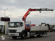 Ciężarówka platforma Mercedes AXOR 1833 /4X2/ BOX + CRANE PALFINGER PK15500/