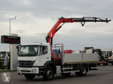 Mercedes flatbed truck AXOR 1833 /4X2/ BOX + CRANE PALFINGER PK15500/