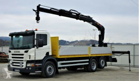 Camión Scania P340 Pritsche 6,80m +Kran/Funk*6x4*Topzustand! caja abierta usado