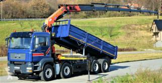Camion plateau MAN TGA 35.430 Kipper 6,50 m + Kran 8x4 Top Zustand