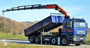 Camión MAN TGA 35.430 Kipper 6,50 m + Kran 8x4 Top Zustand volquete usado