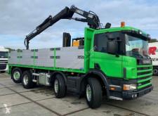Vrachtwagen platte bak boorden Scania P114