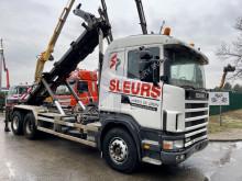 Teherautó Scania 124G-400 - - BALLIESTAS / STEEL SPRING / LAMES használt billenőplató