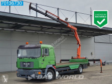 MAN flatbed trailer truck