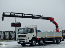 Volvo flatbed truck FM 380 / 8X4 /L:7,5 M/PALFINGER PK 23002 / RADIO