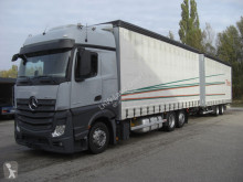 Kamión s prívesom valník s bočnicami a plachtou Mercedes 2542LL KOMPLETTER ZUG