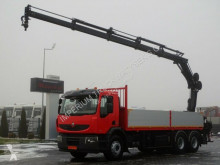 Renault KERAX 370/6X4/L:6,6M+CRANE HIAB 166/RADIO/MANUAL truck used flatbed