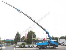 MAN flatbed truck Montagekran Zugmaschine Seilwinde Funkfernbedien