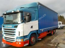 Kamión valník s bočnicami a plachtou Scania G400-6X2-EURO5-AD BLUE-HEBEBÜHNE 2500KG