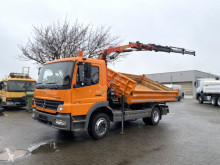 Mercedes three-way side tipper truck Atego 1218 KK 2-Achs Kipper Kran Palfinger 3xhydr