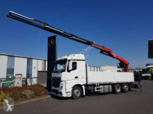 Mercedes Actros 2745 L 6x2 Baustoffpritsche + Kran truck used flatbed