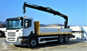 Scania flatbed truck P340 Pritsche 6,80m +Kran/Funk*6x4*Topzustand!
