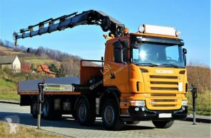 Camion cassone Scania R480 Pritsche 7,25m +Kran/FUNK *8x2*Topzustand!