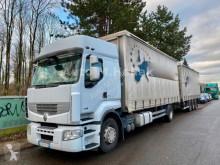 Renault ponyvával felszerelt plató nyerges vontató és pótkocsi Premium Premium 460 DXi 4x2 Pritsche mit Tandem Anänger