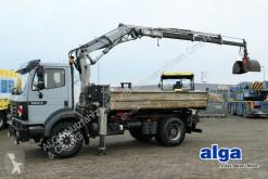 Mercedes LKW Dreiseitenkipper 1824 K 4x2, Meiller, Kran Atlas AK1001, Greifer