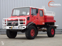 Camion camion de pompieri cu remorca Mercedes Unimog 1550L Unimog U1550 L (437) Benz, Doppelkabine, SIDES CCF2000 ltr. - Expeditievoertuig, Camper