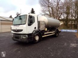 Camion citerne alimentaire Renault citerne ETA alimentaire en inox 2 compartiments