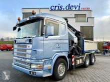 Camion Scania R164 480 GA 6x4 Palfinger PK 36002 + Fly Jib SZM cassone fisso usato
