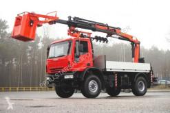 Camion cassone Iveco 140E18 4x4 PALFINGER PK 16502 DRILL KORB Kran