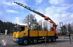 Scania flatbed truck R500 V8 8x4 PALFINGER PK 44002 G EURO 4 WINDE