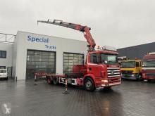 Camião Scania 114 380 + Fassi F380 estrado / caixa aberta usado