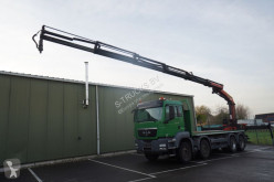 MAN 41.440 FLATBED WITH PALFINGER PK 22002 CRANE truck used flatbed