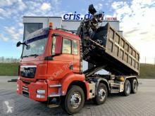 MAN emeletes billenőkocsi teherautó TGS 35.440 8x4 Multilift Haken + Hiab 070 + Grei