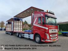 Camión para aves Volvo FH460 6x2 Schuifzeilen Hefdak Kippentransport Liftas en Stuuras Euro 6