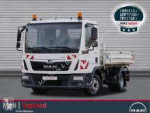 MAN three-way side tipper truck TGL 8.190 4X2 BB, Meiller Dreiseitenkipper