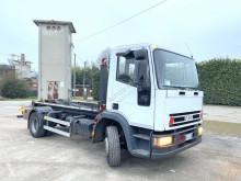 Kamión hákový nosič kontajnerov Iveco Eurocargo 120 SCARRABILE BALESTRATO ANTERIORE E PO