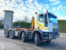 Camion polybenne Iveco Trakker 410 E 48 8X4 SCARRABILE BALESTRATO ANTERIO