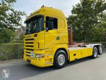 Kamión vozidlo s hákovým nosičom kontajnerov Scania R420 6x2 MEILLER 20.65 Abrollkipper Retarder D-F
