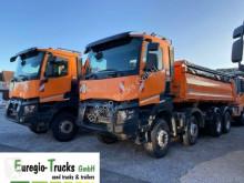Renault three-way side tipper truck 2 x K460/8x4/Meiller 3-S-Kipper Bordmatic/EURO6