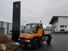 Mercedes UNIMOG U300 4x4 Kipper Hydrostat Zapfwelle Klima truck used three-way side tipper