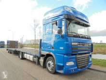 Camion remorque DAF XF105.460 SSC ATE / Platform / Euro 5 / Intarder + Trailer Hydra plateau occasion