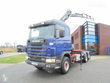 Camión chasis Scania 124G470 6x2 / Tipper / Hiab Crane / Full Steel / Opticruise