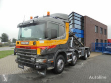 Camion benne Scania 124G400 / 8x2 / Kipper / Manual / Euro 2 / Full Steel