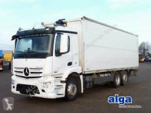 Ciężarówka platforma do transportu napojów Mercedes 2540 L antos 6x2, Schwenkwand, LBW 2,5to., Klima